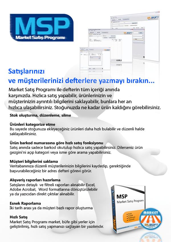 Market Satış Programı Broşür