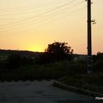 Topalköy, Köy merkezinden günbatımı